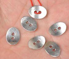 40pcs Tibetan Silver 2Holes Oval Button Connectors 13x10mm A3313