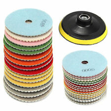 16x Diamond Polishing Pad+Backing Pad 4'' Wet/Dry Set For Granite Stone Marble