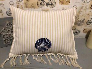 Seashell decorative throw pillow