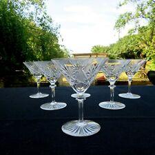 6 coupes à champagne en cristal de val saint Lambert modèle eurydice
