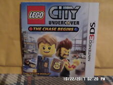Lego City Undercover (Nintendo 3DS) Instruction Manual Only... NO GAME