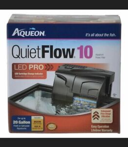 Aqueon QuietFlow 10 LED Pro Aquarium Power Filter for tank up to 20 Gallons