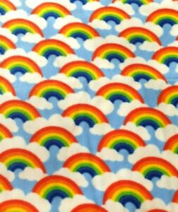 Fleece throw blanket rainbow stars hearts