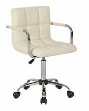 Set of 2 Faux Leather Computer Office Desk Swivel Studio Salon Barber Chair UK