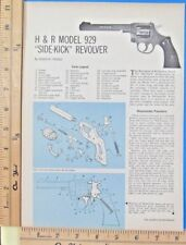 1964 H&R MODEL 929 SIDE-KICK REVOLVER gun EXPLODED VIEWS Magazine Article 9334