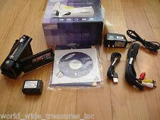 Samsung HMX-H300 Full HD Camcorder Software Manual AC AV USB Cables Box Bundle