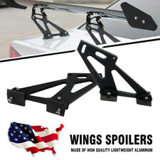"2PCS Universal 7"" Lightweight Car Rear Wing Racing Tail Spoiler Tripod Drilling"