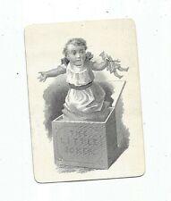 Antique The little Joker Jack In The Box Single Card 1870's