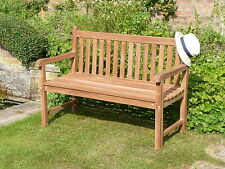 TOP QUALITY HUMBER TEAK 4 FOOT NEW LONDON PARK BENCH PATIO GARDEN FURNITURE