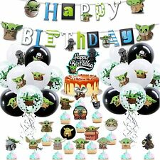Star Wars Birthday Party Decorations Baby Yoda_1 Party Supplies 70 Pack with Bal