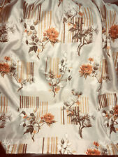 Vtg Curtains Drapes Mid Century Mcm Chinoiserie Asian Pinch Pleat Lovely Colors