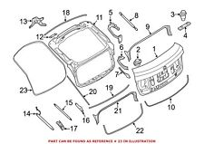 For BMW Genuine Hatch Seal Rear 51767237488