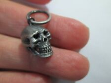 charm Obey company Jewelry human Skull Necklace skeleton pewter silver