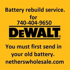 Rebuild service for  DEWALT DW0242 or DW0240  24-Volt NiCad Battery