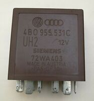 Audi VW Brown-389 Control Wiper/ Washing Relay Module 4B0955531C UH2 72WA403 OEM