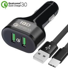 [Qualcomm Certified] Quick Charge 3.0 Car Charger, 36W 2 Port USB Car Charger