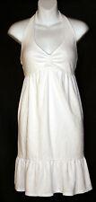 Victoria's Secret WHITE Plush & Lush Terry Halter Dress Cover Up S