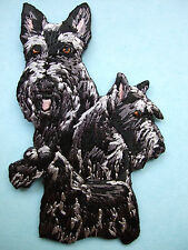 IRON-ON EMBROIDERED PATCH - SCOTTISH TERRIER - DOG