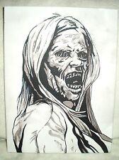 Canvas Painting Grimm TV Series Hexenbiest HexenBeast B&W Art 16x12 inch Acrylic