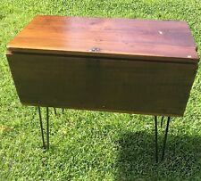 Trunk Coffee Table 1950s Microbarograph Bendix-Friez restored iron legged table!