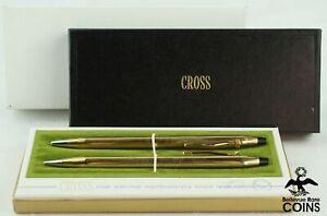 Set of 2: Cross 12k Gold Filled Ballpoint Pen & Pencil w/Original Packaging