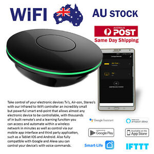 Smart WIFI Infra-red to WiFi Universal Remote Google Home, Alexa Controllable.