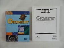 Bob Jones Geometry Student w. Test Math Homeschool / School, 2nd Ed, LN