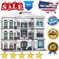 Building Blocks Expert Street MOC Sets 10188 Hospital Bricks Model DIY Kids Toys