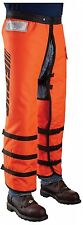 Full-Wrap Chain Saw Chaps 36 in. 12 Layers Adjustable Waist Polyester Orange