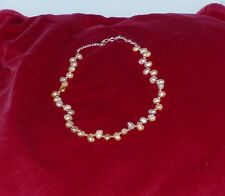 Necklace genuine cultured pearls with rose gold beads hand made in Cornwall