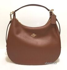 New COACH F38259 Harley Pebbled Leather Hobo Crossbody Shoulder Handbag Saddle