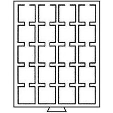 Leuchtturm Münzbox 20 eckige Fächer, 50 x 50 mm, rauchfarben