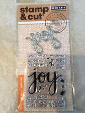 Hero Arts Clear Stamp & Cut Joy Thin Metal Die Cut Set DC169 NEW
