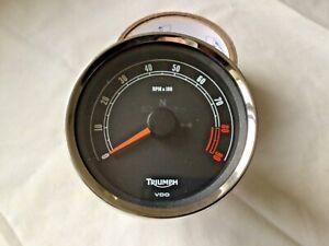 Triumph bonneville tachometer clock scrambler tacho instruments light damage