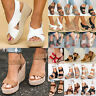 Women's Platform Wedge High Heels Sandals Ladies Open Toe Espadrilles Shoes Size