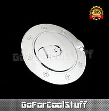For 88~98 Chevy Ck Pickup Gmc Ck Pickup Chrome Fuel Gas Cap Door Cover