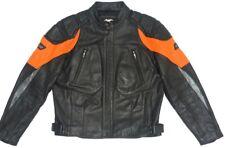 Harley Davidson Leather Jacket Reflective Racing Orange STRATOS 97030-04VM XL