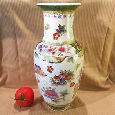 Große hinreissende chinesische handbemalte Porzellan Vase Zhongguo Zhi Zao