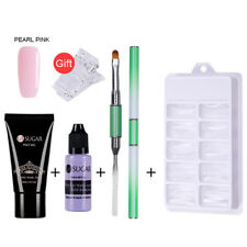 Nails Kit UV Gel French Nail Manicure Nail Tips Extending Poly Builder Gel Set