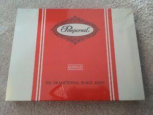 Vintage Pimpernel 6x placemats Oriental Floral Brand New Factory Sealed