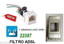FILTRO ADSL RJ11 DA INCASSO FRUTTO PER BTICINO LIVIN LIGHT TECH