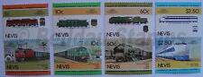 1984 NEVIS Set #2 Train Locomotive Railway Stamps (Leaders of the World)