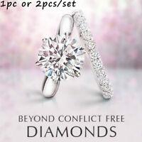 Diamond Ring Catalina And Amelie  Wedding Engagement Band 18k White Gold