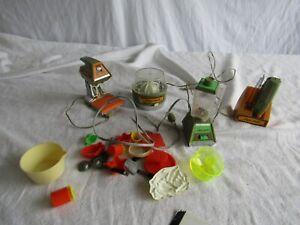 Vintage Ideal MiniMatic Kitchen Appliance Toy Lot Doll Toys BLENDER MIXER KNIFE