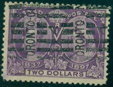 CANADA #62 $2.00 dark purple, used w/roller cancel, VF, Scott $600.00