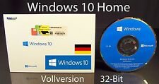 Microsoft Windows 10 Home Vollversion SB 32-Bit mit Hologramm-DVD DE OVP NEU