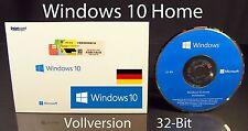 Microsoft Windows 10 Home Vollversion SB 32-Bit mit Hologramm-DVD DE OVP NEU