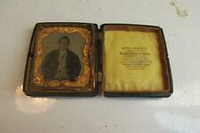 Littlefield Parsons Daguerreotype Union Case With Tintype Of Indian Man