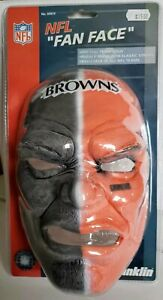 CLEVELAND BROWNS Football NFL Franklin FAN FACE Rubber Mask w/ Straps No. 6991F