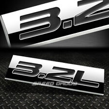 METAL EMBLEM CAR BUMPER TRUNK FENDER DECAL LOGO BADGE CHROME BLACK 3.2L 3.2 L